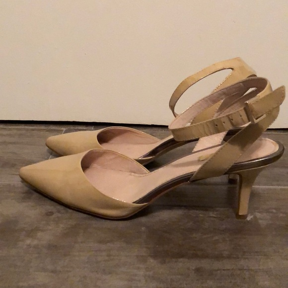 Louise et Cie Shoes - Nude patent low heel with ankle strap